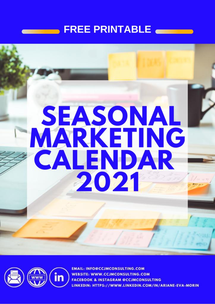 SEASONAL marketing calendar2021